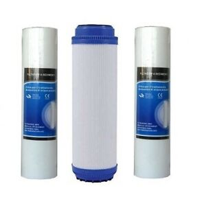 4 kit 3 filtri filtro depuratore acqua rubinetto domestico casa osmosi inversa ebay - Depuratore acqua casa ...
