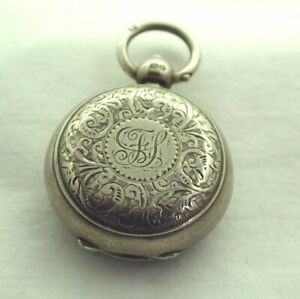 1895-Victorian-Engraved-Solid-Silver-Sovereign-Case-Super-Condition