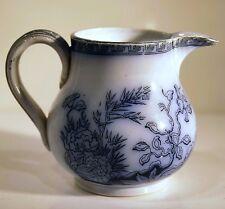 PETIT POT PICHET à LAIT CERAMIQUE fin XIXè Tampon Au Vase Etrusque Frise Floral