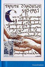 TRAITE D ANDELOT   FRANCE  Carte Postale Maximum FDC Yt C 2500