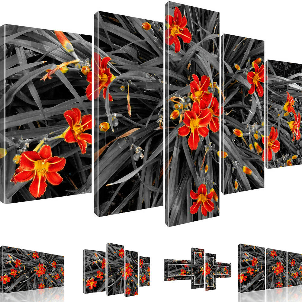 Bilder Lilien Blaumen Wandbild auf Leinwandbild