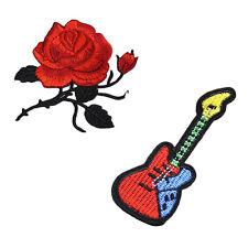 1PCS Red Rose Flower Embroidery Iron On Applique Patch Crafts Schön Neu