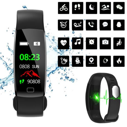 Wasserdicht IP68 Smartwatch Smart Armband Fitness Tracker Pulsuhr Blutdruck Uhr