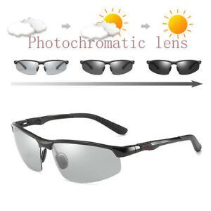 4dfc11ad6c5 Image is loading Aluminium-Men-Polarized-Photochromic-Sunglasses -UV400-Driving-Transition-