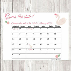 baby shower games guess the due date