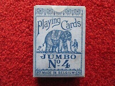Alte Spielkarten, Playing Cards ,jumbo Nr.4, Made In Belgium, Sehr Selten! KöStlich Im Geschmack