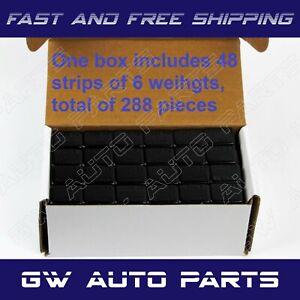 0.5oz 1//2oz Black Adhesive Stick on Wheel Weights