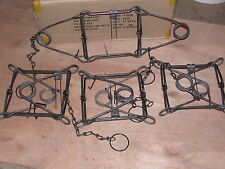 4 DUKE 220 BODY TRAPS RACCOON FOX BADGER MUSKRAT MINK  0420