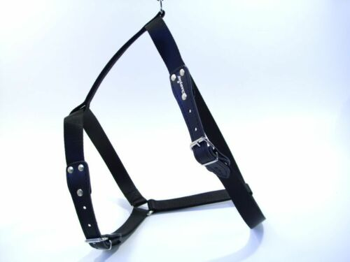 Heavy Duty Strong  Adjustable Nylon//Leather  Non Pull Dog Harness