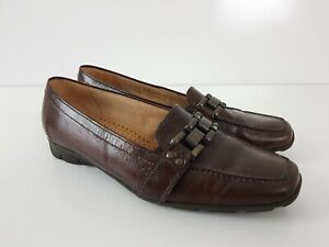 Gabor Hovercraft Brown Leather Loafer Moccasin Flat Shoe Women's UK 7.5 EUR 40.5