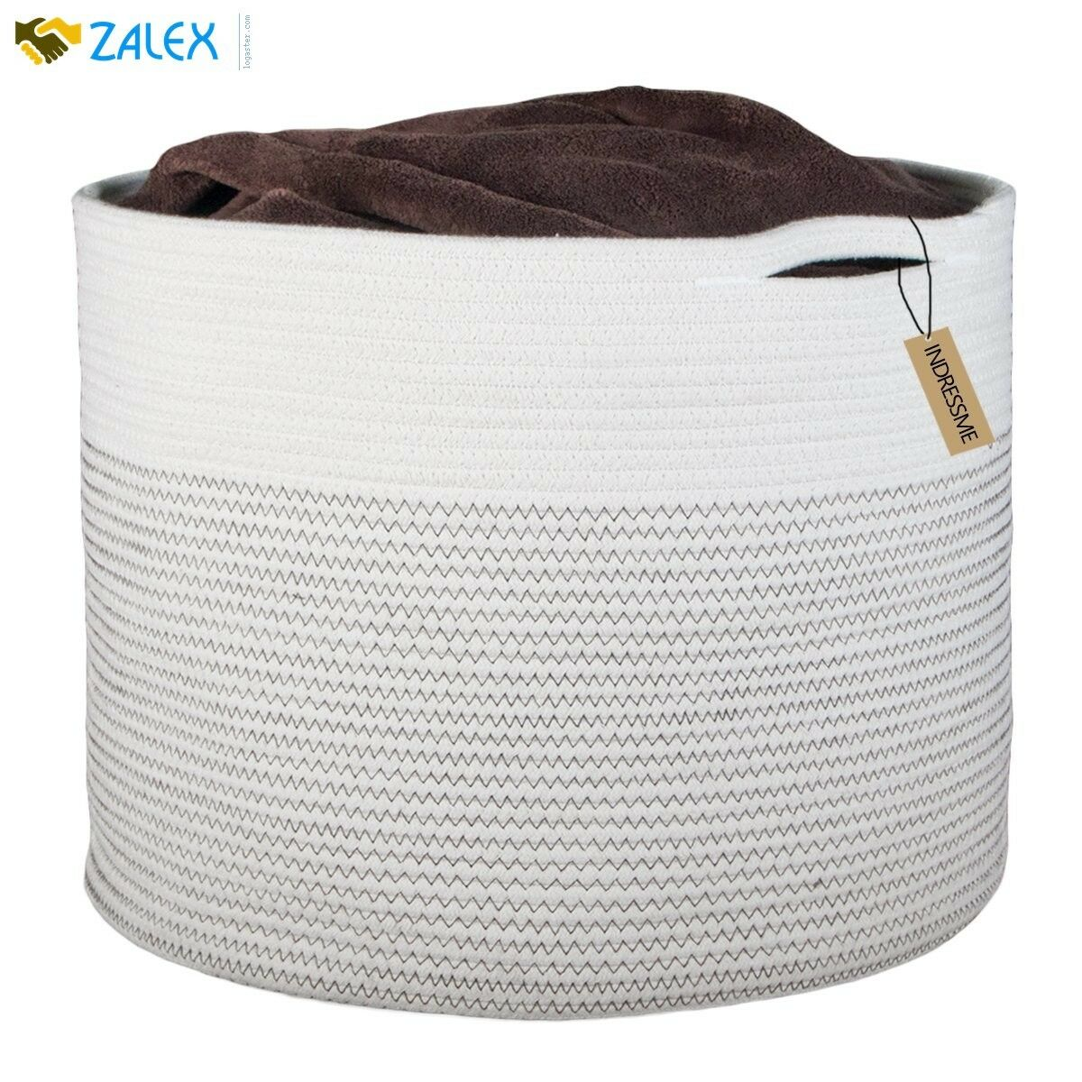 Extra Large Storage Baskets Cotton Rope Basket Woven Baby Laundry Bask For Toys