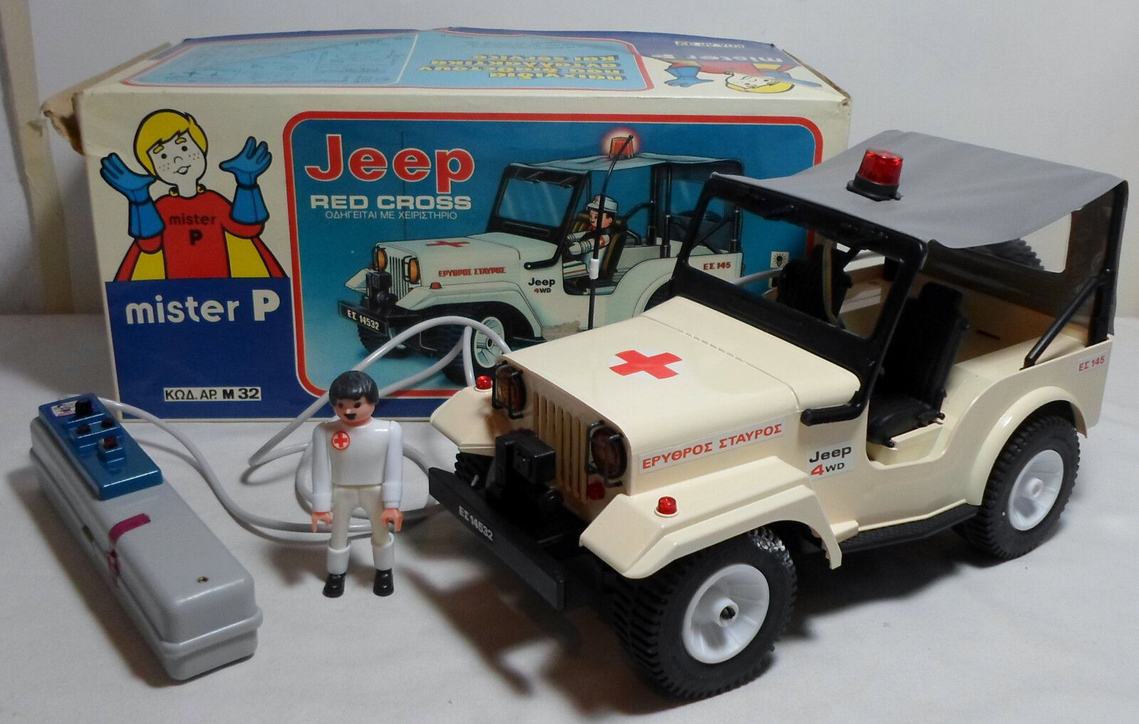 MISTER P M 32 GREEK VTG 80's B O rot CROSS JEEP AIRGAM BOYS DRIVER WIrot R C TOY