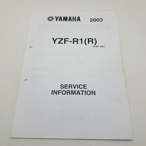 Details about Yamaha Motorbike YZF-R1(R ) Factory Service Information 1st  ed August 2002