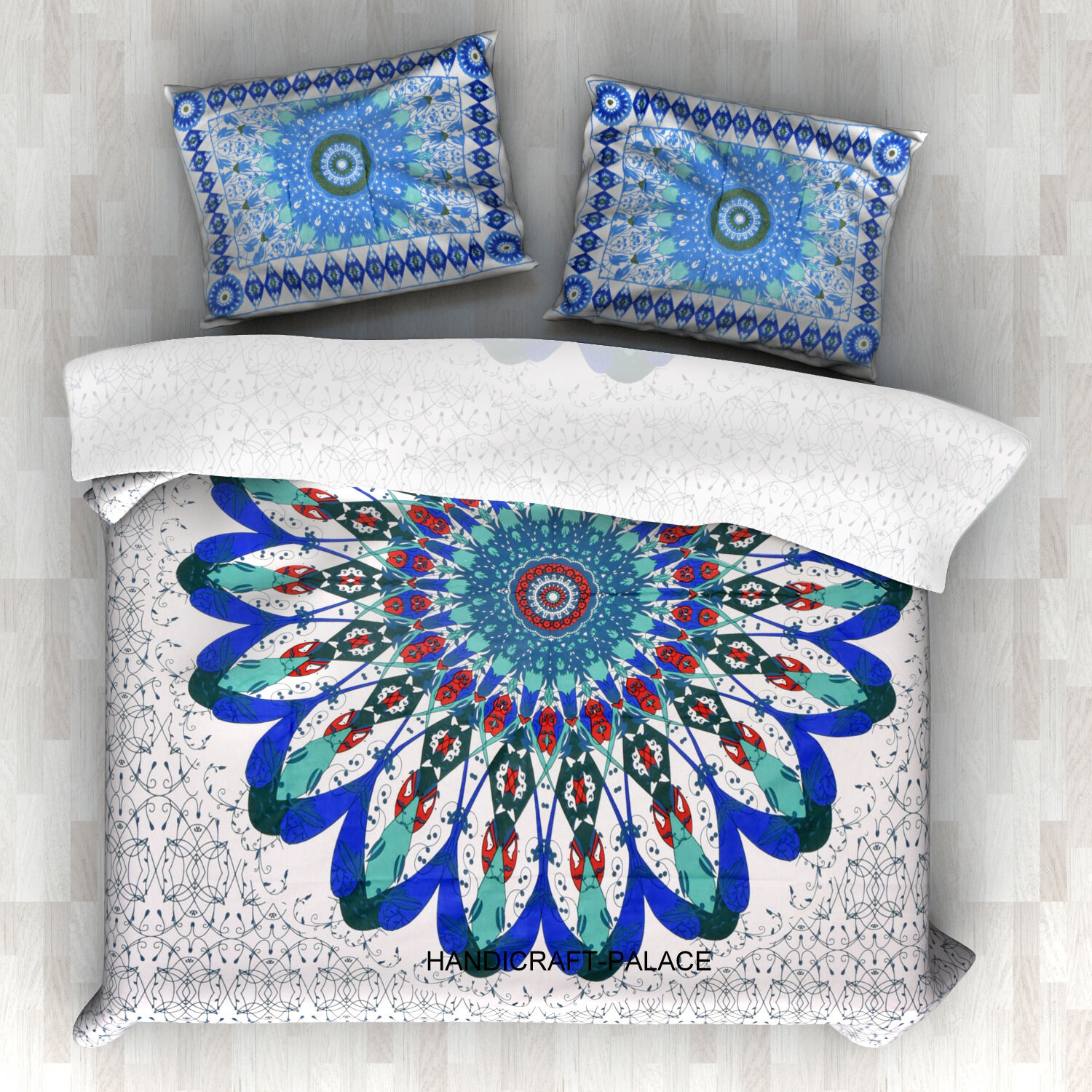 Indian Mandala Duvet Cover Hippie Bohemian Cotton Comforter Set Boho Twin Size