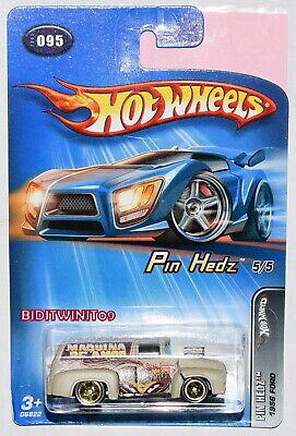 Hot Wheels 2005 Pin Hedz 1956 Ford Marrone #095