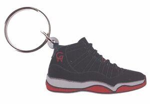 e42893d398e337 Good Wood NYC Bred 11 Black Sneaker Keychain Blk Red XI Shoe Key ...