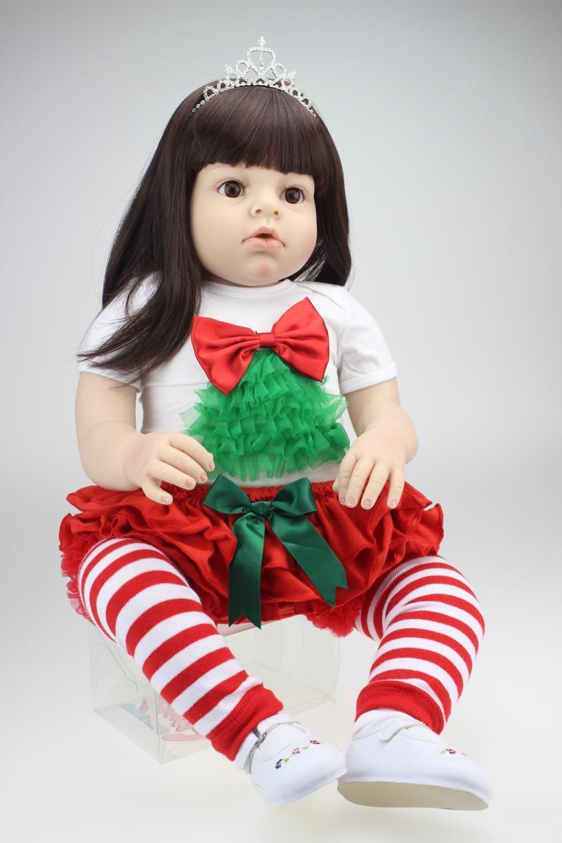 28  Muñecas Reborn bebé niña hecho a mano realista de vinilo de silicona muñecas Niños Regalo Nuevo