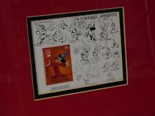 DISNEY Mickey Mouse Fantasia Animation Drawings 50th Anniversary Stamp COA