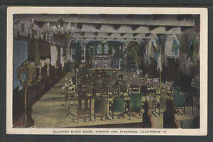 1940s-CLOISTER-MUSIC-ROOM-MISSION-INN-RIVERSIDE-CALIFORNIA-POSTCARD