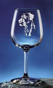 Personalized Great Dane Pet Dog Etched Wine Glass 12 75oz Ebay