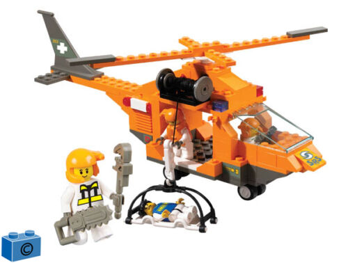 EMERGENCY RESCUE HELICOPTER 160 pcs COMPATIBLE BRICKS Building Blocks