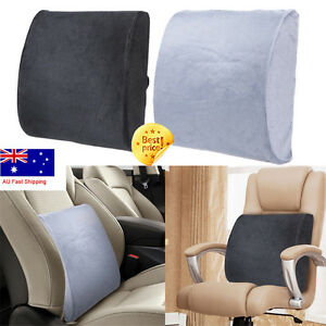Memory Foam Lumbar Back Support Cushion Pillow Pad Home Office Car