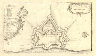 Château Trompette Plan Hearty 'plan Du Chasteau Trompette' De Fer 1705 Map Gironde