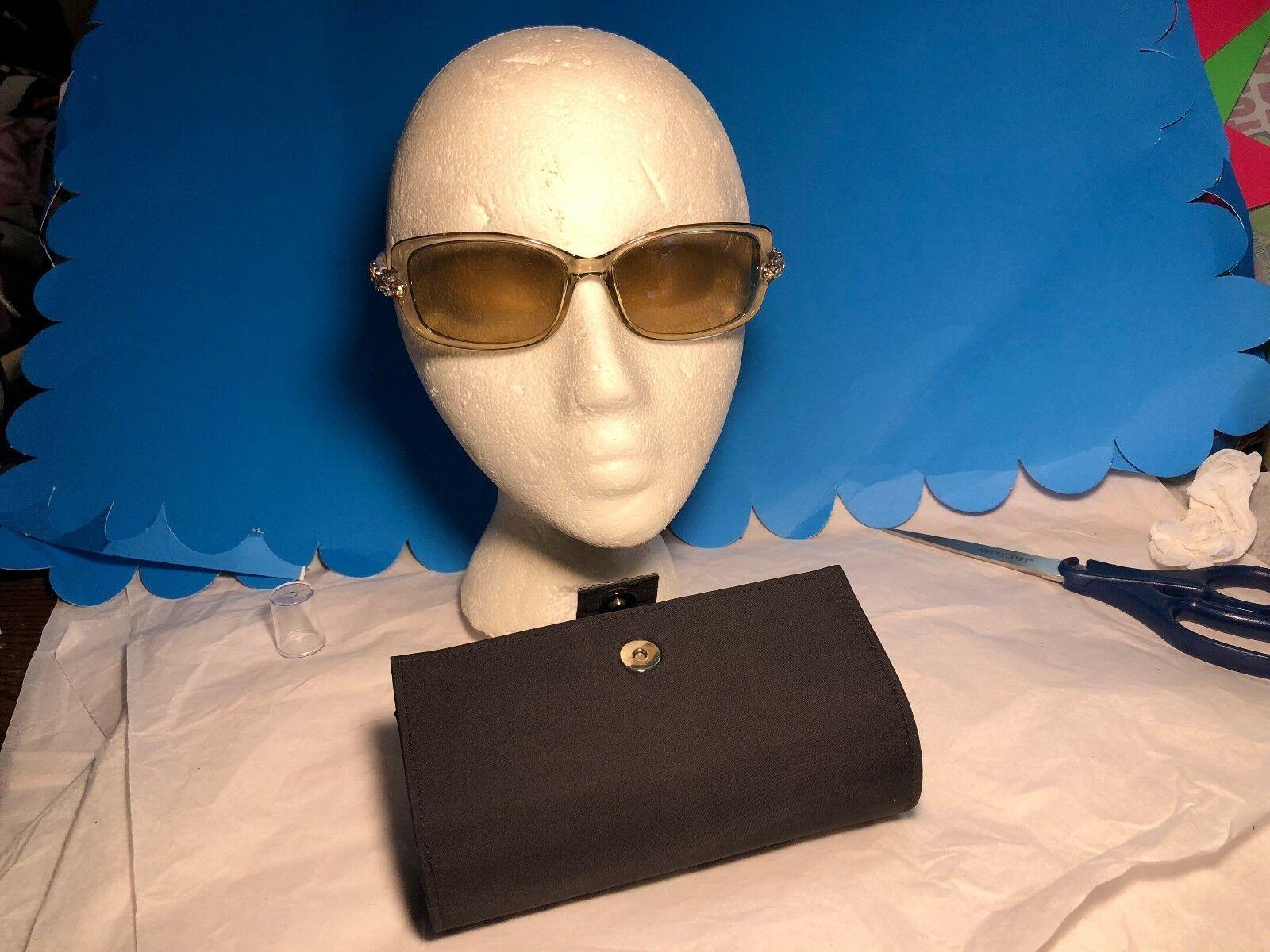 Daniel Swarovski Crystal Women's Sunglasses S628 6052 Khaki Color Stunning look