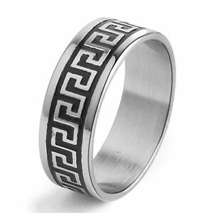 steel ring mens jewelry size 8 9 10 11 12 13 14 wedding ebay