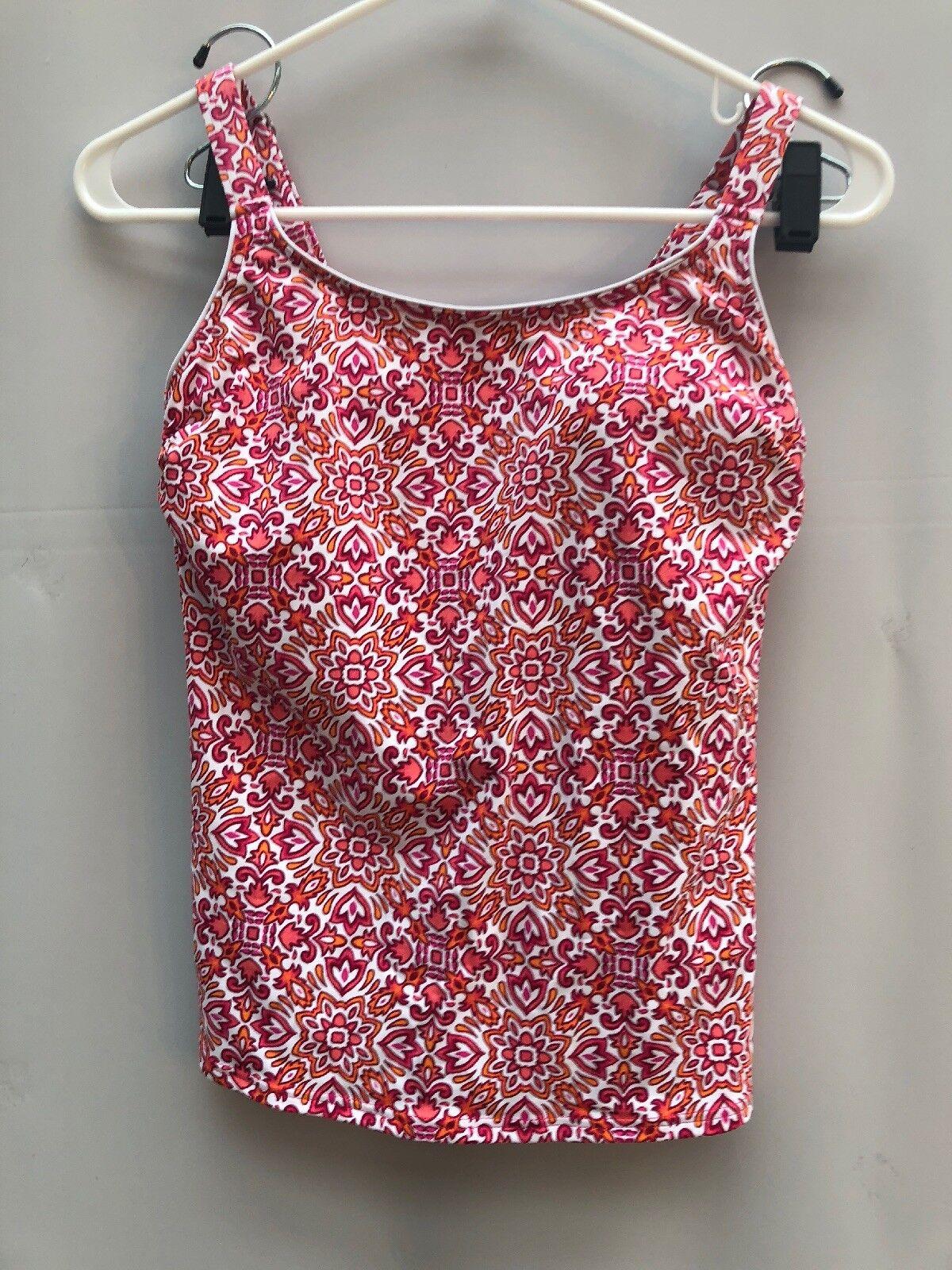 Lands' End Swim Suit Wear Top Tankini Sz 2 Pink