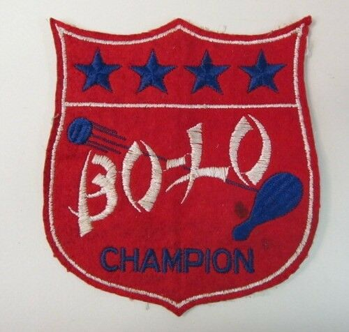 Rare 1940's BO-LO CHAMPION large embroidered patch Cheerio Paddle Board
