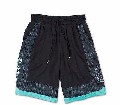 Pink Dolphin RARE GRADIENT Black Aqua Green Yellow Basketball Mesh Men/'s Shorts