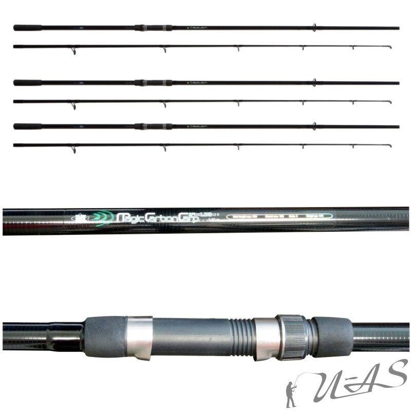 3 x LINEAEFFE Magic carbonio carpa canna Carpa Carp CANNA 2tlg 3,60m 3,00lbs