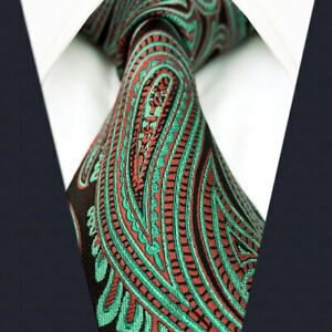 S/&W SHLAX/&WING Blue Silver Mens Neckties Paisley Classic for Suit