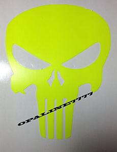 aufkleber sticker punisher fluoreszierend neon sch del. Black Bedroom Furniture Sets. Home Design Ideas