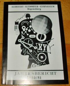 Regensburg-1980-81-Jahresbericht-Albrecht-Altdorfer-Gymnasium-Geschenk-Abi