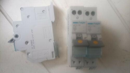 Disjoncteur unipolaire+neutre automatique 16A Hager MFS716
