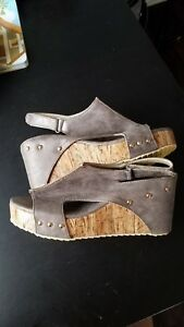 761e66ba8741 Image is loading Fashion-Women-Peep-Toe-Slingbacks-Sandals-Platform-Wedge-