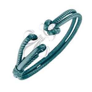 """MAGNETIX Leder Armband ohne Magnet 4225 """"Leder Türkis""""  Magnetschmuck"""