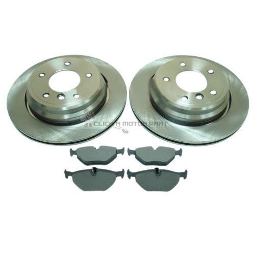 Bmw Serie 5 E39 528 530 535 trasera con ventilación Discos De Freno Y Mintex almohadillas Set Nuevo