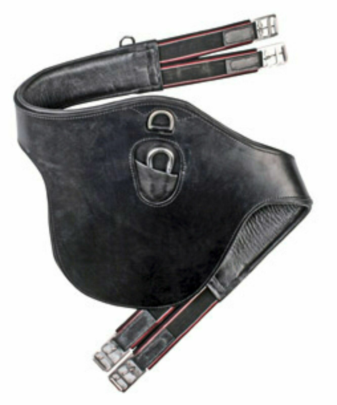 Hkm girth with prougeection strip cleat