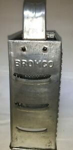 Vintage-Bromco-4-Sided-Metal-Cheese-Grater-Vegetable-Shredder-Mid-Century-USA