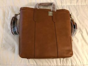 Details About J Crew Oar Stripe Vegetable Tanned Leather Tote Bag Burnished Sienna Nwt Pic
