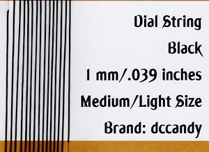 Radio-Dial-Cord-12-Ft-BRAIDED-Nylon-String-1mm-BLACK-for-Vintage-Radio-Tuner