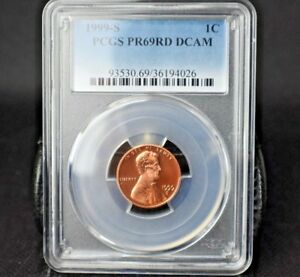 1999-S-1C-LINCOLN-CENT-PCGS-PR69RD-DCAM-B-U-GORGEOUS-BRIGHT-RED-BEAUTY