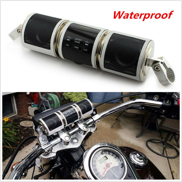 Waterproof Motorcycle Bluetooth Wireless Audio Scooter Bike Stereo Sound System