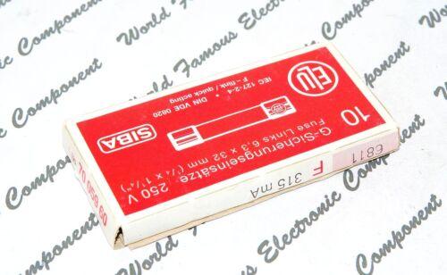 1pcs 250V 6.3x32mm Glass Fuse F 315mA 6,3x32mm 0.315A ELU // SIBA