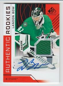 2018-19-UD-SP-GAME-USED-LANDON-BOW-RC-AUTO-JERSEY-AUTHENTIC-ROOKIES-123-Stars