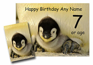 PENGUIN-CHICK-Personalised-BIRTHDAY-CARD-Daughter-Brother-grandson-son-sister