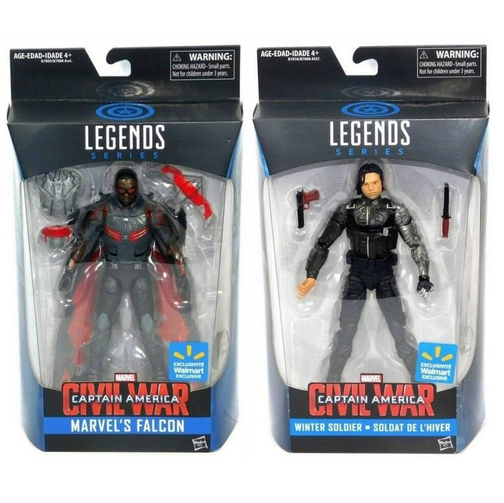 Marvel Legends Captain America Civil War FALCON & & & WINTER SOLDIER Figure Set b08abf